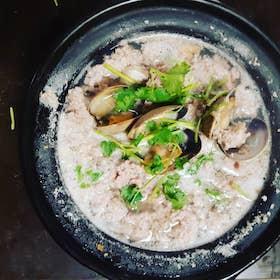 鮮蜆肉碎湯飯