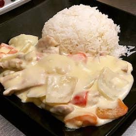 白汁雞皇飯