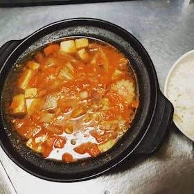 韓式豆腐海鮮湯飯(辣)
