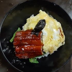 鰻魚飯 + 炒蛋